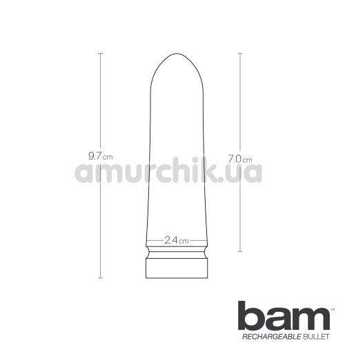 Клиторальный вибратор VeDO Bam Rechargeable Bullet, розовый