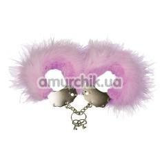 Наручники Adrien Lastic Menottes Metal Handcuffs With Feather, розовые - Фото №1