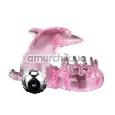 Виброкольцо Love Dolphin Ring 010133-1, розовое - Фото №1