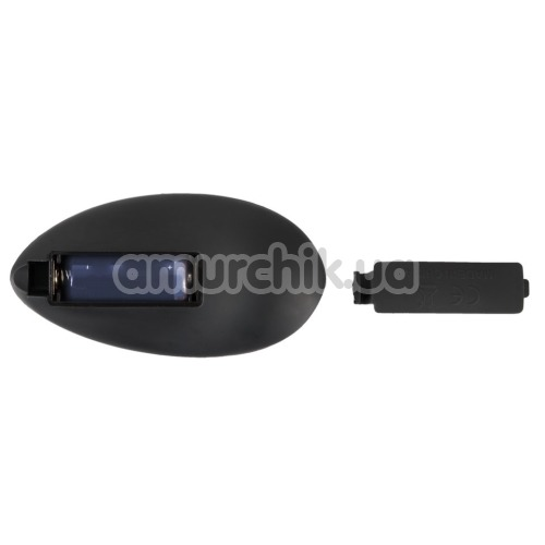 Анальная пробка с ротацией Black Velvets Rotating & Vibrating Plug, черная