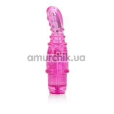 Вибратор Basic Essentials Ridged Softee, розовый - Фото №1