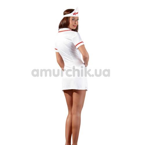 Костюм медсестры Cottelli Collection Costumes 2470616 белый: халатик + шапочка