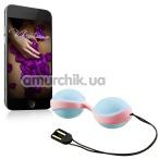 Вагинальные шарики с вибрацией Amor Vibratissimo Balls, розово-голубые - Фото №1