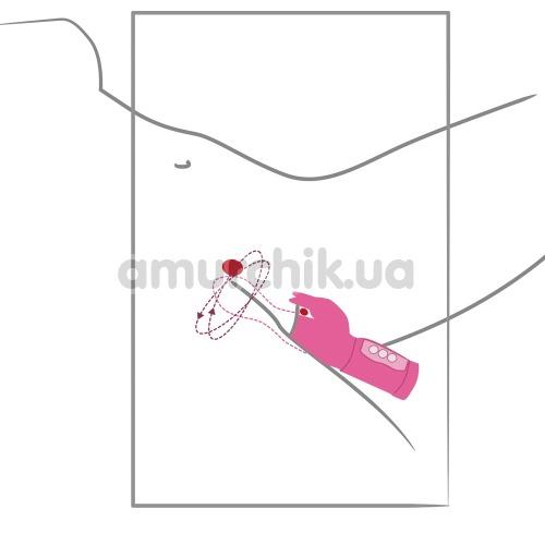 Вибратор Twisting G, розовый