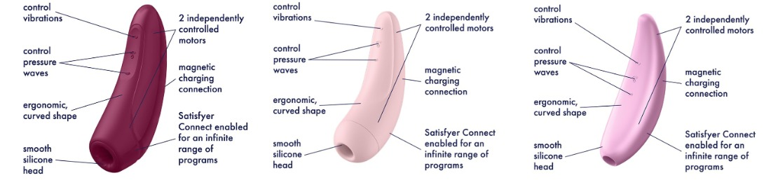 Satisfyer Curvy 1+, 2+, 3+