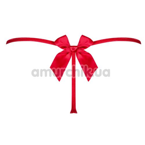 Трусики-стринги Obsessive Giftella, красные