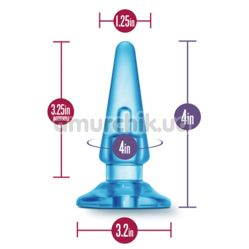 Анальная пробка B Yours Basic Anal Plug, голубая