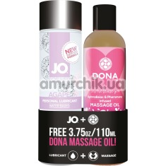 Набор JO Limited Edition Promo Pack: JO Women Agape + Dona Let Me Tease You Oil Massage Flirty Blushing Berry - Фото №1