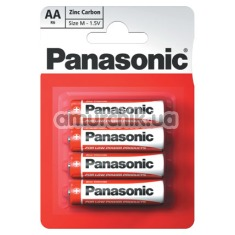Батарейки Panasonic Zinc Carbon AA, 4 шт - Фото №1