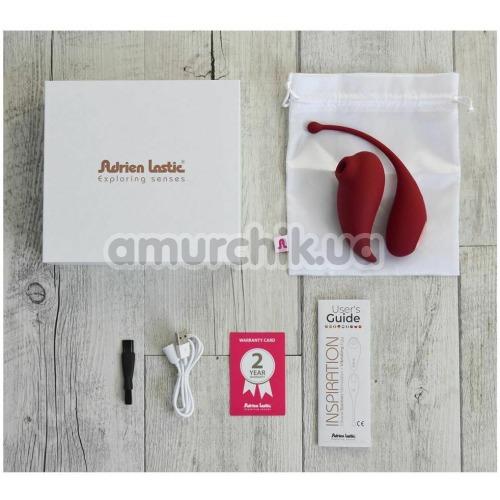 Набор Adrien Lastic Inspiration: Clitoral Suction Stimulator + Vibrating Egg, бордовый