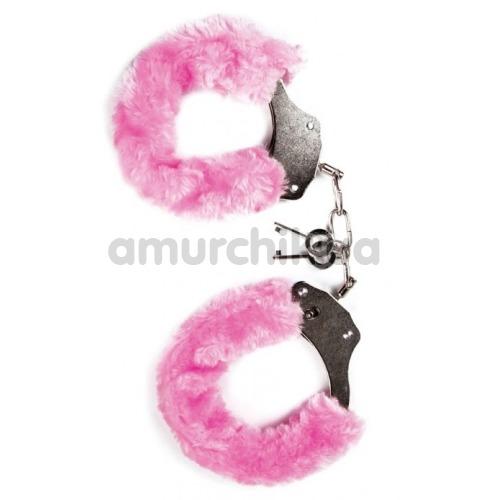 Наручники MAI No.38 Metal Furry HandCuffs, розовые - Фото №1