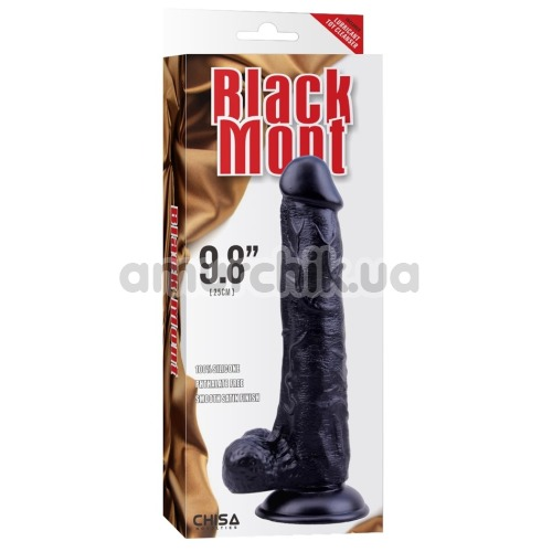 Фаллоимитатор Black Mont Black Veined Dong 9.8, черный