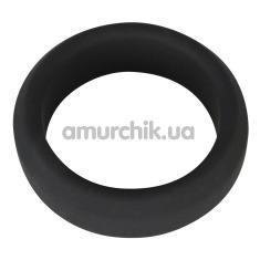 Эрекционное кольцо Black Velvets Cock Ring 3.8 см, чёрное - Фото №1