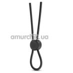 Эрекционное кольцо Stay Hard Silicone Loop Cock Ring, черное - Фото №1