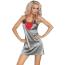 Комплект Livia Corsetti Fashion Platinum серый: пеньюар + халатик + трусики-стринги - Фото №9