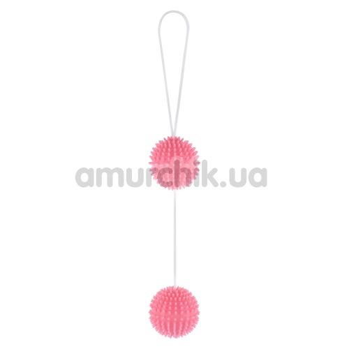 Вагинальные шарики Girly Giggle Balls, светло-розовые - Фото №1