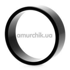 Эрекционное кольцо Hot Metal #3, 5 см черное - Фото №1