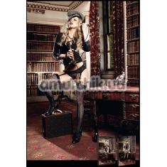 Чулки Jacquard Thigh High Black черные (модель B906) - Фото №1
