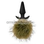 Анальная пробка с хвостиком Pom Plugs, коричневая - Фото №1