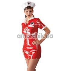 Костюм медсестры Black Level 2851083 красный: платье + шапочка - Фото №1