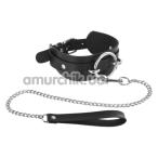 Ошейник с поводком Fetish Tentation Choker Ring and Leash, чёрный - Фото №1
