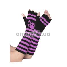 Перчатки Acrylic Elbow Length Fingerless Gloves Pink - Фото №1