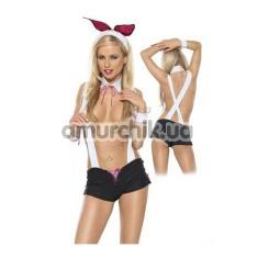 Костюм кролика Roxana Bunny Set: ушки + воротничок + манжеты + шорты с подтяжками - Фото №1