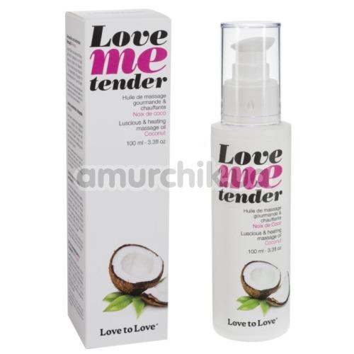 Массажное масло с согревающим эффектом Love To Love Me Tender Noix De Coco - кокос, 100 мл