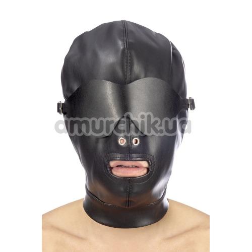Маска Fetish Tentation Enjoy Pain BDSM Hood With Mask, черная - Фото №1