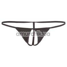 Трусики-стринги String Ouvert, черные - Фото №1