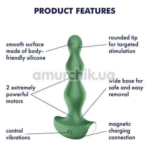 Анальный вибростимулятор Satisfyer Lolli Plug 2, зеленый