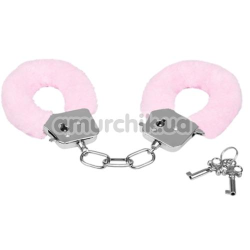 Наручники MAI No.38 Metal Furry HandCuffs, розовые