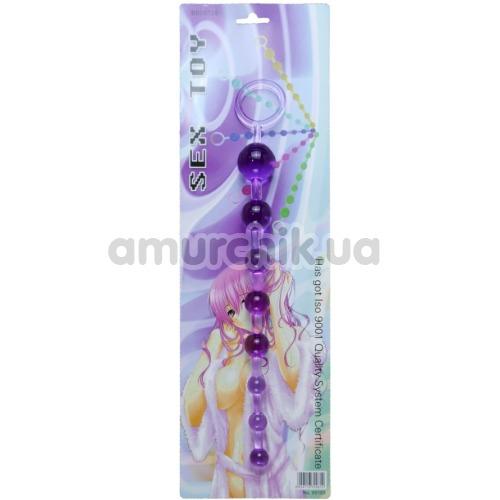 Анальная цепочка Sex Toy Jelly Anal Beads, фиолетовая