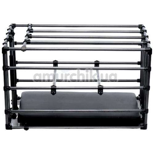 Клетка для наказаний Kennel Adjustable Cage With Padded Board, черная