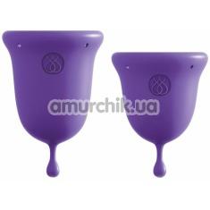 Набор из 2 менструальных чаш Jimmyjane Intimate Care Menstrual Cups, фиолетовый - Фото №1