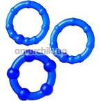 Набор из 3 эрекционных колец A-Toys 769004, синий - Фото №1