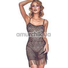 Платье ажурное с бахромой Anais Physis, черное - Фото №1