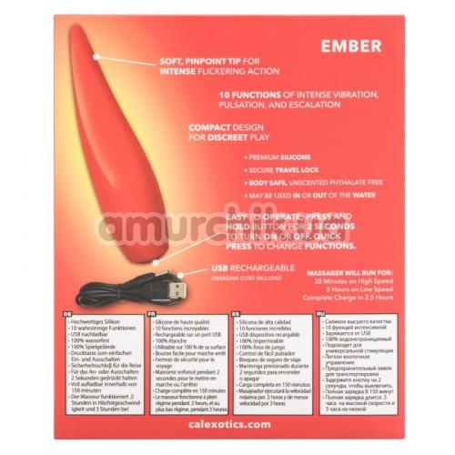 Клиторальный вибратор Red Hot Ember, красный