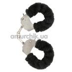 Наручники Furry Fun Cuffs, черные - Фото №1