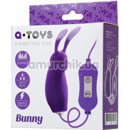 Виброяйцо A-Toys Vibrating Egg Bunny, фиолетовое