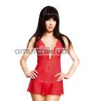 Комплект Holly красный: комбинация + трусики-стринги - Фото №1