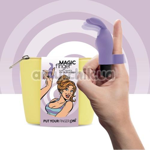 Вибронапалечник FeelzToys Magic Finger Bunny Vibrator, фиолетовый