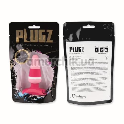 Анальная пробка FeelzToys Plugz, розовая