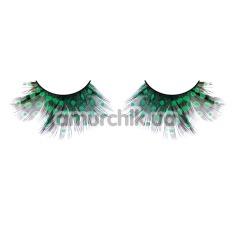 Ресницы Black-Green Feather Eyelashes (модель 639) - Фото №1