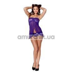 Комплект Baby Be Mine фиолетовый: пеньюар + трусики-стринги - Фото №1