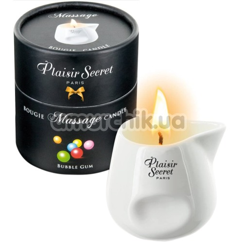 Массажная свеча Plaisir Secret Paris Bougie Massage Candle Bubble Gum - жвачка, 80 мл