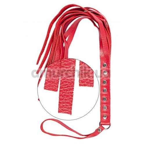 Плеть S&M Fancy Leather Flogger 130, красная