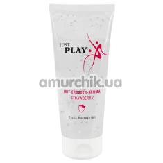 Массажный лубрикант Just Play Erotic Massage Gel Strawberry - клубника, 200 мл - Фото №1