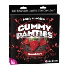 Съедобные женские трусики Edible Crotchless Gummy Panties, клубника - Фото №1