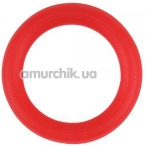 Эрекционное кольцо M-Mello Silicone Ornament, красное - Фото №1